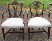SOLD Set of Eight Mahogany Dining Chairs in Antique Georgian Style
